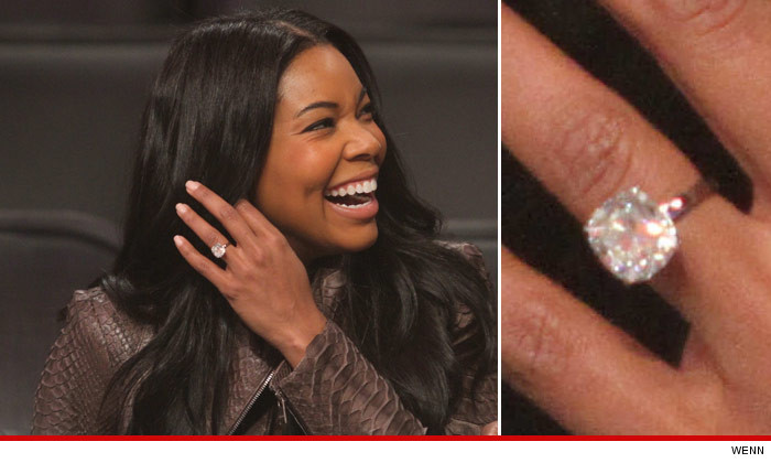 Gabrielle Union Takes Massive Ring to Lakers Game With Bodyguards