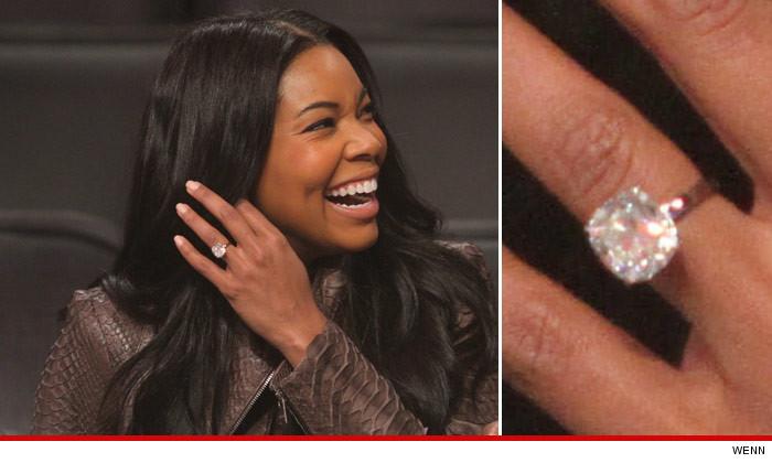 Gabrielle Union $1 million Diamond Ring